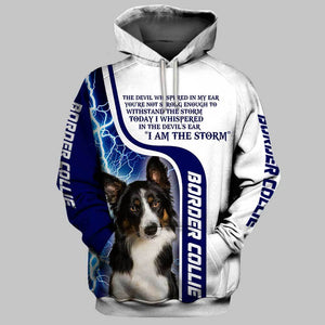 BORDER COLLIE Limited edition 3D Full Printing