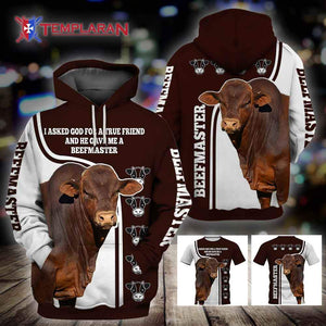 BEEFMASTER CATTLE TRUE FRIEND 3D Full Printing