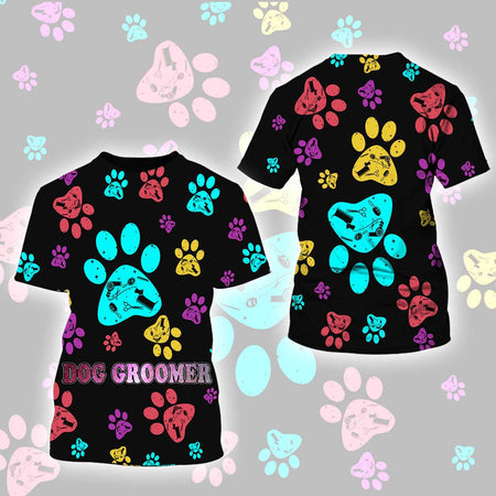 Dog Groomer 3D Legging Full Printing