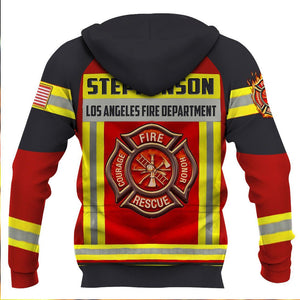 Personalized Name and Department Firefighter 3D Full Printing