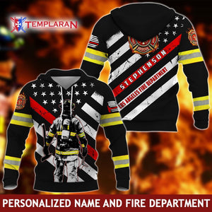 Personalized Name and Fire Department - Firefighter 3D Full Printing