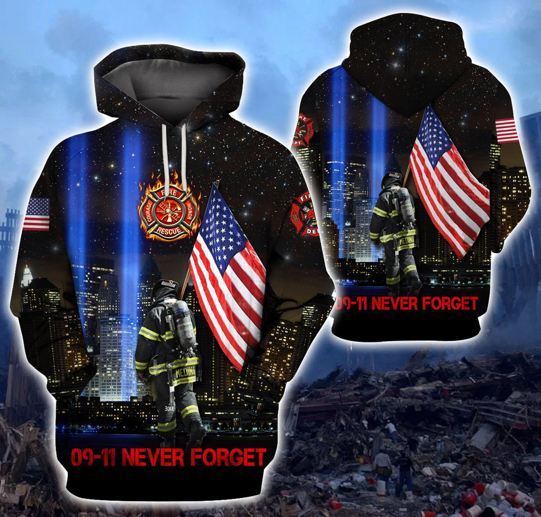 Firefighter 3D Hoodie Limited Edition