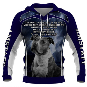 American Staffordshire Terrier Dog 3D Full Printing