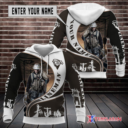 Customize Name Lineman Job Limited edition 3D Full Printing
