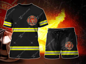 Firefighter Short Pant Full Printing