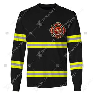Firefighter Limited edition 3D Full Printing T-shirt