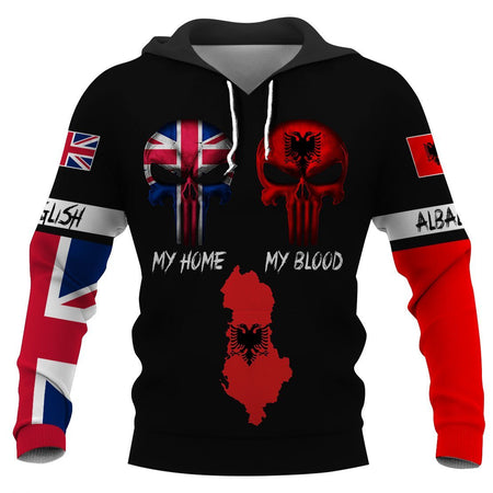 English my home ALBANIAN my blood hoodie t-shirt 3D Full Printing