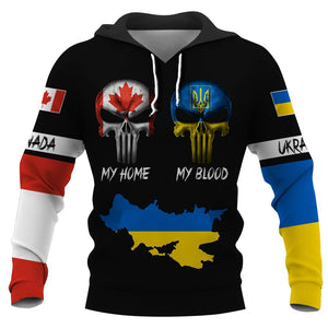 Canadian my home ukraine my blood hoodie t-shirt 3D Full Printing
