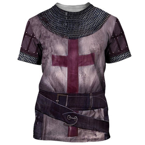 Knight Templar Armor 3D Hoodie and T-shirt