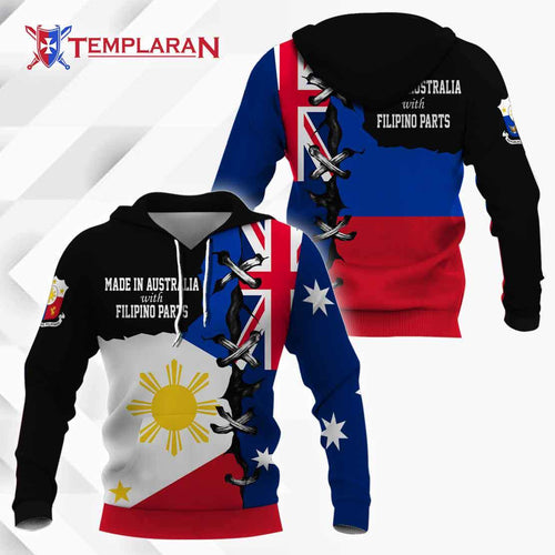 Made in Australia with Filipino hoodie 3D Full Printing