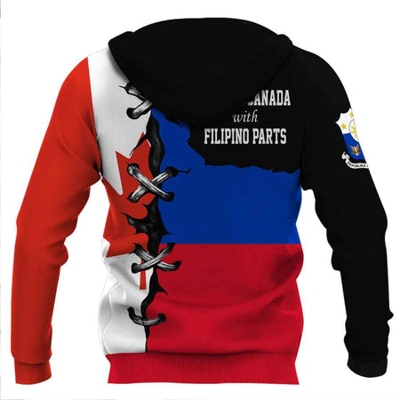 Made in Canada with Filipino hoodie 3D Full Printing