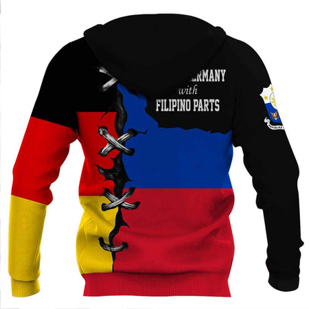 Made in Germany with Filipino hoodie 3D Full Printing