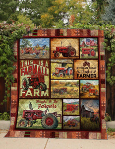 Farmer Red Tractor 3D Blanket PM-QNK00016