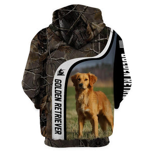 Golden Retriever Hunting Limited Edition 3D Full Printing