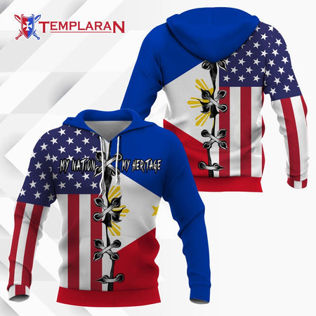 America My Nation Philippines My Heritage 3D Full Printing