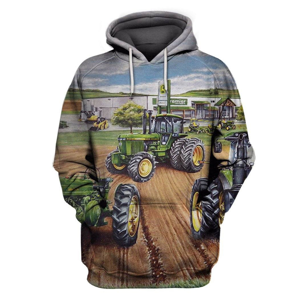 Tractor 3D Full Printing Hoodie & T-Shirt