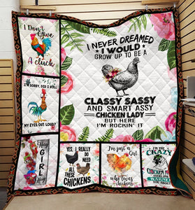 Chicken Lady Blanket DML-QHG00038