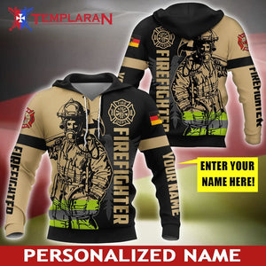 Personalized Name Germany Firefighter 3D Full Printing