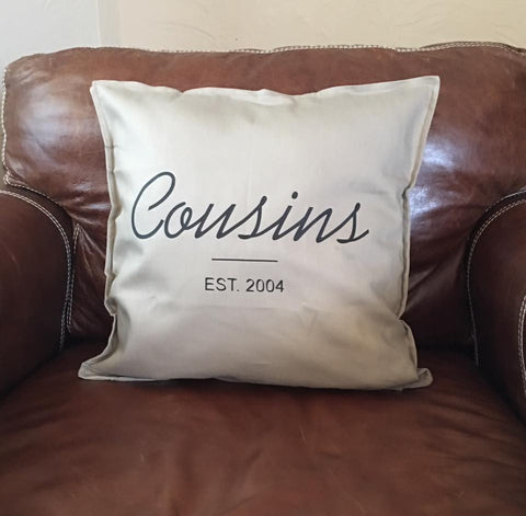 Personalized Pillow Cover with Last Name & Established Date -  Pillow Case - Heir of Grace