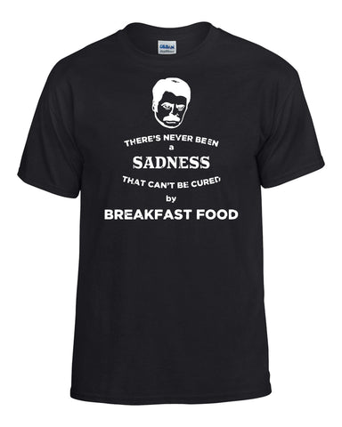 Parks and Recreation: Ron Swanson Cured By Breakfast Food T-Shirt