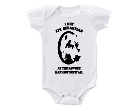 Parks and Recreation: I Met Lil Sebastian Onesie -  Onesies - Heir of Grace