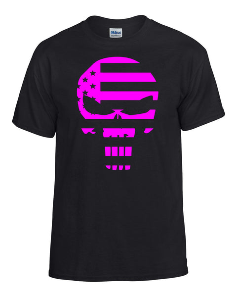 Punisher Flag Pink T-Shirt -  T-Shirts - Heir of Grace