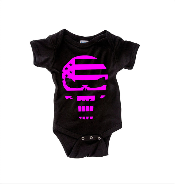Punisher Flag Pink Onesie -  Onesies - Heir of Grace