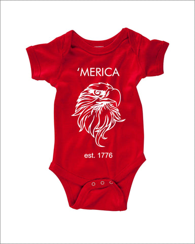 'Merica est. 1776 Onesie - Eagle - American Pride - Bodysuit - Heir of Grace