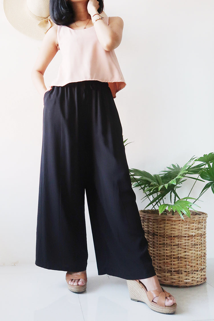 Carly Garterized Lounge Pants (4 colors)