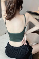 Christa Ribbed Midrib Crop Top