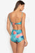EL094 Tracy | Pineapple Print High Waist Swimsuit