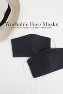Washable Microfiber Face Mask (10 colors)