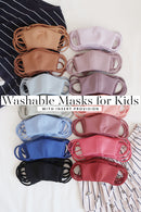 BUY 2, GET 1 FREE Washable Neoprene Face Mask for Kids