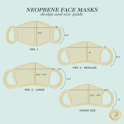 Washable Neoprene Face Mask v2 (Assorted Multipack)