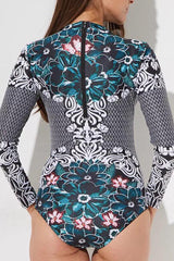 [Imported Pre-Order] P105 Floral Swirl Rashguard Suit
