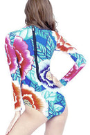 P109 Kimberly | Flower Burst Rashguard Suit