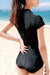 P112 Julianna | Black Short Sleeve Rashguard Suit