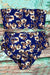 P147 Emery | Bandeau High Waist Set in Purple Floral