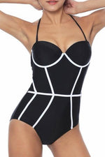[Imported Pre-Order] P154 Underwired One Piece in Black