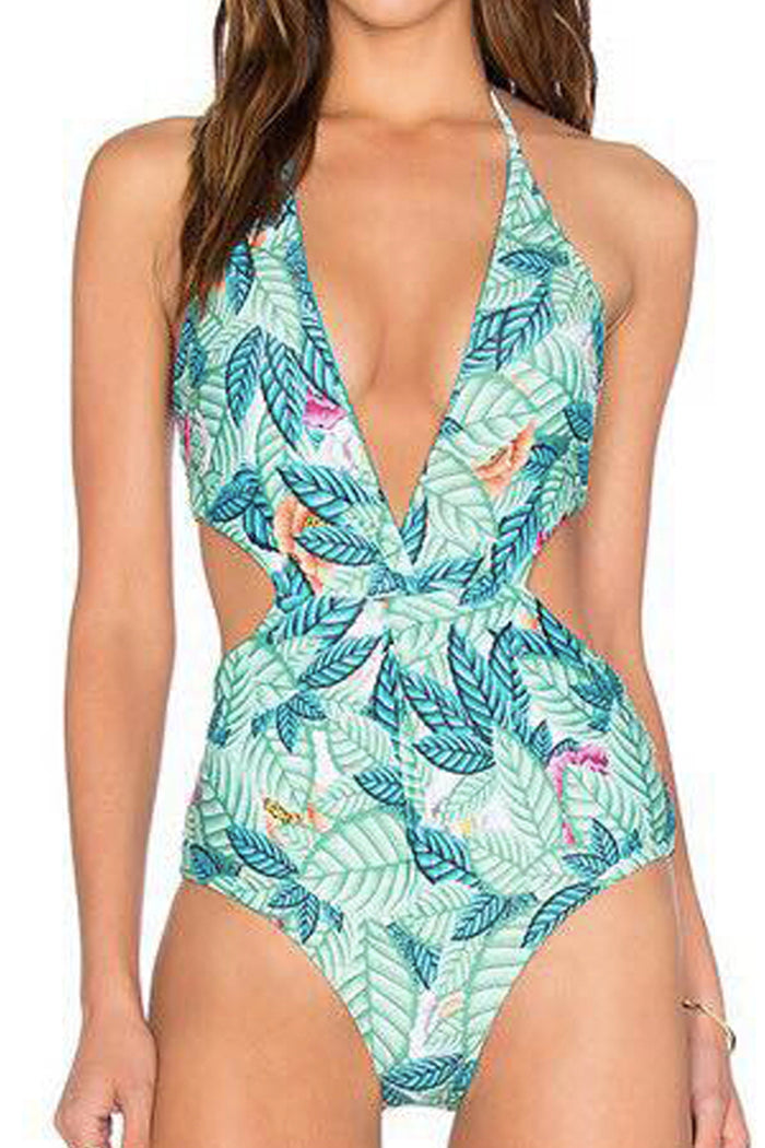 [Imported Pre-Order] P156 Leaf Dance Cutout One Piece