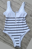 [Imported] P183 Zip Stripe One Piece