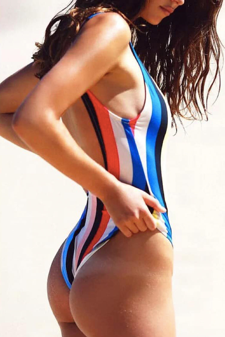 P191 Cali | Multi Stripes One Piece