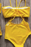 P204 Makenzie | Bandeau High Waist One Piece Set