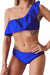 P218 Alessandra | One Shoulder Ruffle Layer Bikini Set (6 colors)