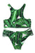 P235 Allie | Palms Halter Midrib Bikini Set