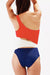 [Imported] P245 Color Block Cutout One Piece