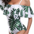[Imported] P249 Palm on White Off Shoulder One Piece