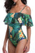 [Imported] P250 Tropical Off Shoulder One Piece