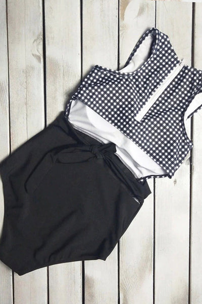 P281 Raven | Checkered Black Cutout One Piece