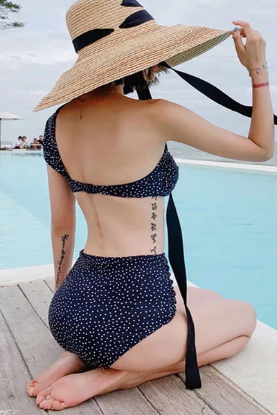 P288 Cheyenne | One Shoulder Polka High Waist Set